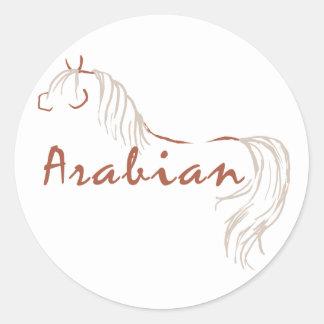 Caballo árabe pegatinas redondas