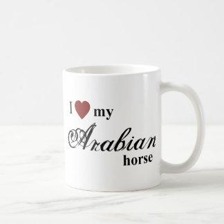 Caballo árabe taza