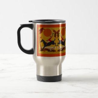Caballo artsy del puente del cazador de la caza de taza de café