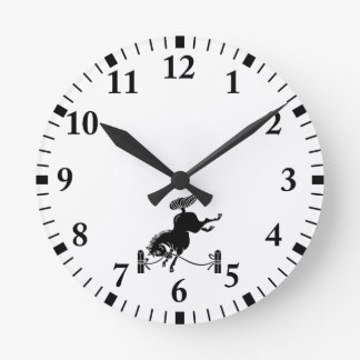 Caballo atado del Soma Reloj Redondo Mediano