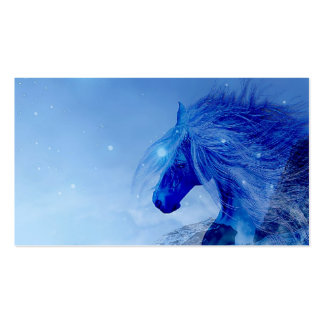 Caballo azul de la fantasía tarjetas de visita