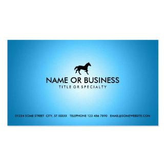 caballo azul del resplandor tarjetas de visita