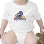 Caballo azul Denver del vintage Traje De Bebé