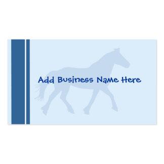 Caballo azul modificado para requisitos particular tarjetas de negocios