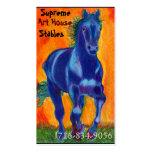 Caballo azul plantillas de tarjeta de negocio