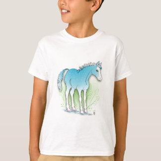 caballo azul playera