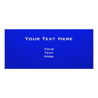 Caballo azul tarjeta publicitaria a todo color