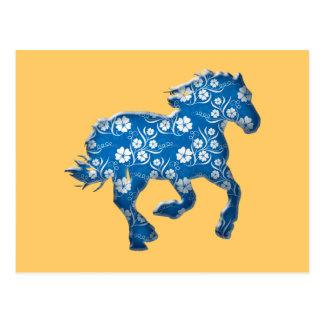 caballo azul tarjetas postales