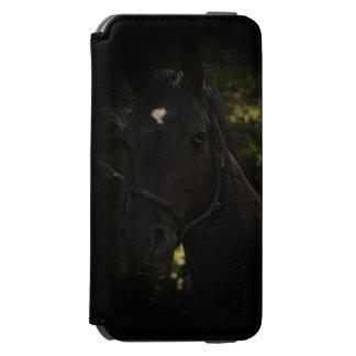 Caballo Belleza-Negro de medianoche del semental Funda Billetera Para iPhone 6 Watson