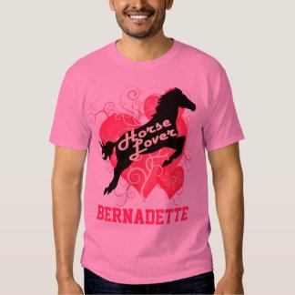 Caballo Bernadette personalizada amante Camisas