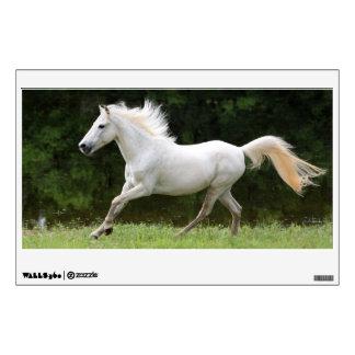Caballo blanco galopante