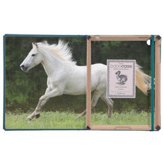 Caballo blanco galopante iPad cobertura