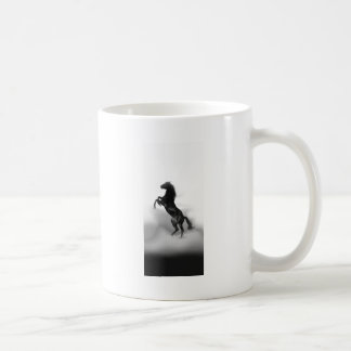 Caballo blanco negro taza