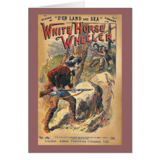 Caballo blanco - novela de moneda de diez centavos tarjeta de felicitación