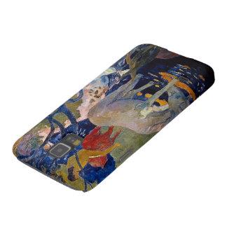 Caballo blanco por Gauguin, arte del impresionismo Funda Para Galaxy S5
