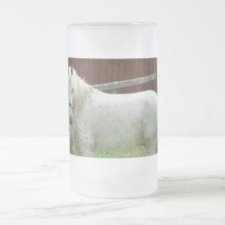 Caballo blanco taza de cristal