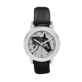 Caballo blanco y negro relojes