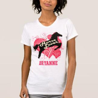 Caballo Bryanne personalizado amante Camisetas