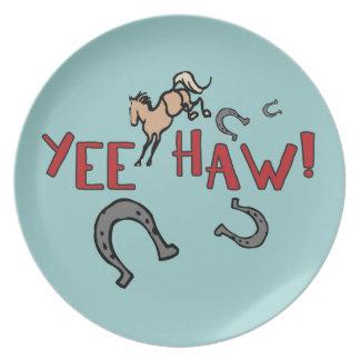 Caballo Bucking del Haw de Yee Plato De Comida