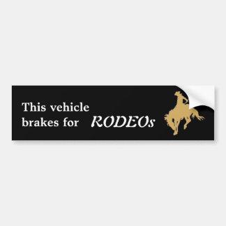 Caballo Bucking del rodeo negro del oro Pegatina Para Auto