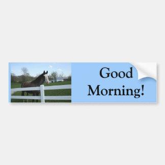 ¡Caballo, buena mañana! Etiqueta De Parachoque