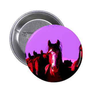 Caballo - caballos pin redondo de 2 pulgadas