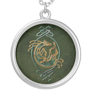Caballo céltico - piedra collar personalizado