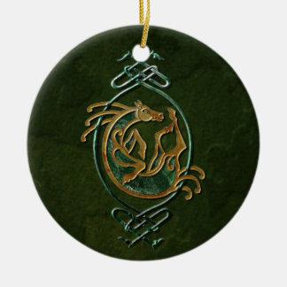 Caballo céltico - piedra adornos de navidad