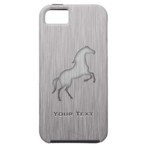 Caballo cepillado de la mirada del metal iPhone 5 Case-Mate carcasa
