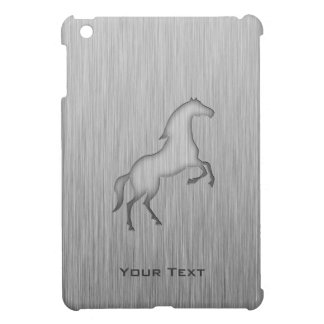 Caballo cepillado de la mirada del metal iPad mini fundas