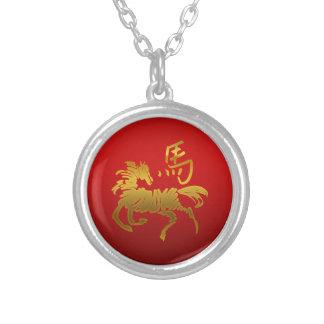 Caballo chino del zodiaco colgante redondo