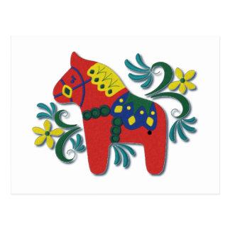 Caballo colorido de Dala del sueco Postal