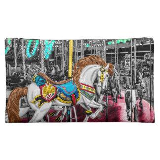 Caballo colorido del carrusel en el carnaval