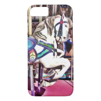 Caballo colorido del carrusel en los regalos de la funda iPhone 7