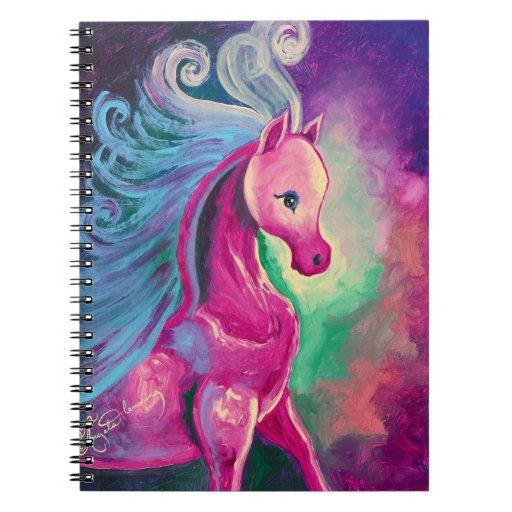 Caballo colorido libro de apuntes con espiral