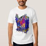 Caballo con colores galopantes playera