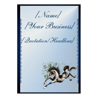 Caballo corriente profilecard_chubby_vertical, tarjetas de visita grandes
