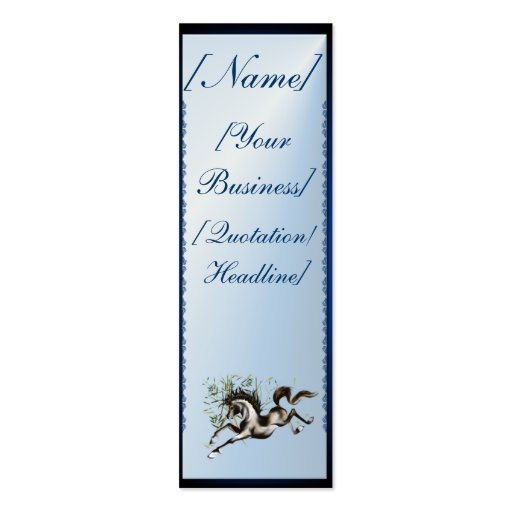 Caballo corriente profilecard_skinny_vertical, [Na Tarjetas De Visita Mini