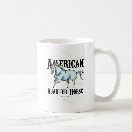 Caballo cuarto americano tazas
