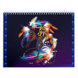 Caballo Cubierta-Brillante Calendario De Pared