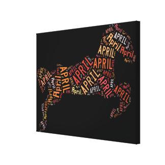 Caballo de abril impresión en lienzo estirada
