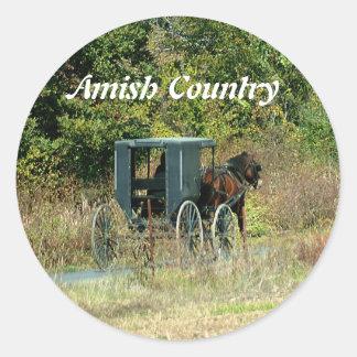 Caballo de Amish y pegatina con errores