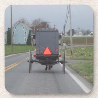 Caballo de Amish y prácticos de costa con errores Posavasos De Bebidas