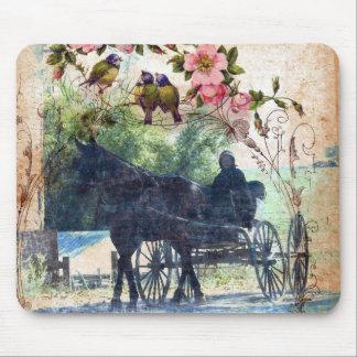 Caballo de Amish y textura con errores del Mouse Pad