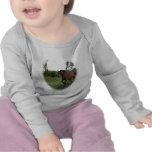 Caballo de bahía en bebé camiseta