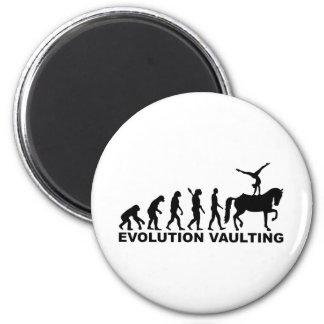 Caballo de bóveda de la evolución imán redondo 5 cm