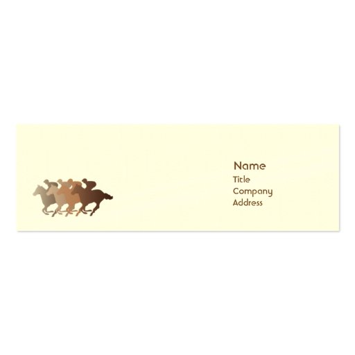 Caballo de Brown - flaco Tarjetas De Visita Mini