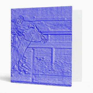 """Caballo de carreras azul en colores pastel del carpeta 1"""""""