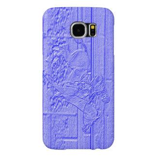 Caballo de carreras azul en colores pastel del fundas samsung galaxy s6