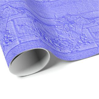 Caballo de carreras azul en colores pastel del